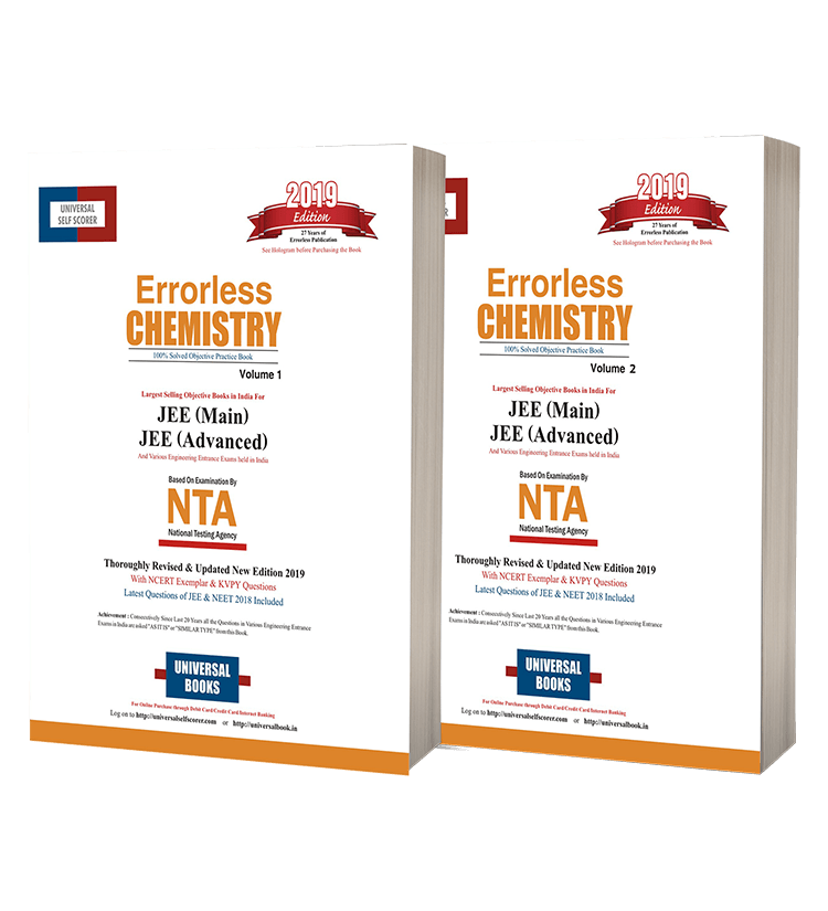 Errorless Chemistry JEE Mains & JEE Advance (Vol.1 & 2)