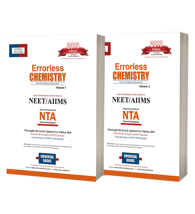 Errorless Chemistry NEET & AIIMS (Vol.1 & 2)